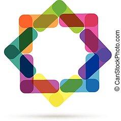 logo, abstrakt, affärskort