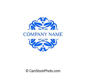 logo, abstrakt, blomst, skabelon