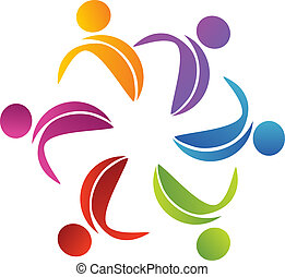 logo, abstrakt, blume