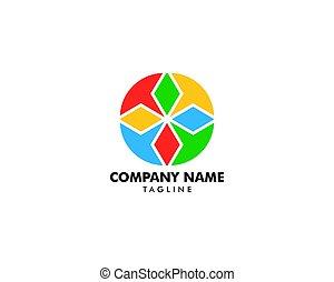 logo, abstrakt, cirkel