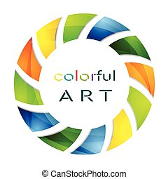 logo, abstrakt, cirkel, farverig, backg