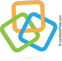 logo, abstrakt, geometrisch