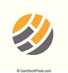 logo, abstrakt, globale