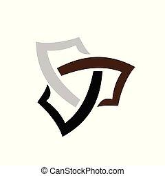 logo, abstrakt, kreuz