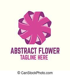 logo, abstrakt, moderne, blomst