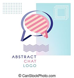 logo, abstrakt, pratstund