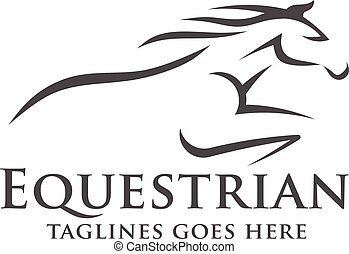 logo, abstrakt, rennsport, pferd, schablone