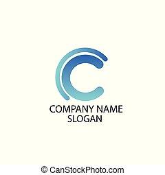 logo, abstrakt, selskab