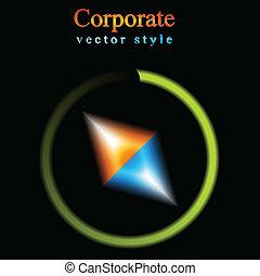 logo, abstrakt, vektor, baggrund