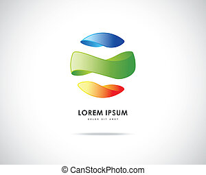 logo, abstrakt, vektor, design, schablone