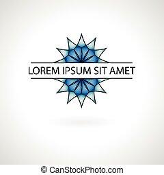 logo, abstrakt, vektor, illustration, design.
