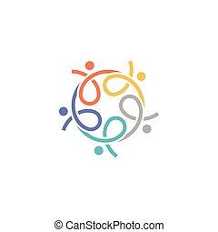 logo, abstrakt, vektor, menneske