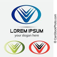 logo, Abstrakt, Vektor, Skabelon
