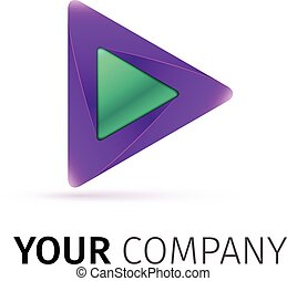 logo, abstrakt, vektor, spielen