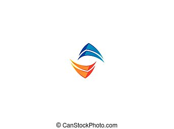 logo, abstrakt, vektor, technologie, kreis