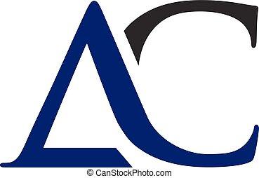 logo, ac, lettre