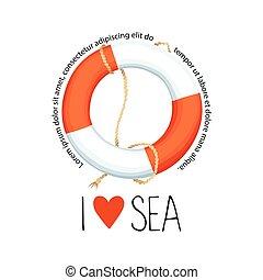 logo, achtergrond., witte , vrijstaand, lifebuoy