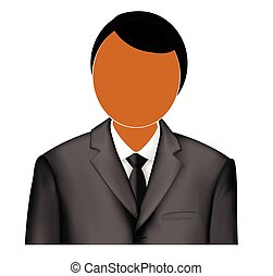 Logo admin. Icon administrator. illustration of a man in a jacket and shirt. Ties jacket and shirt.