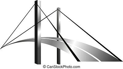 logo, américain, bridge.