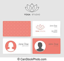Logo and business cards for yoga studio