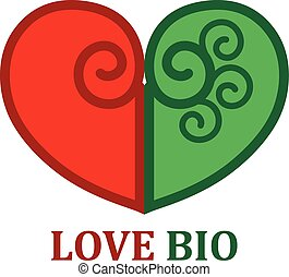 Logo and icon template for love bio
