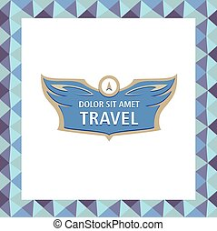 Logo and template corporate identity, banner for travel agency, air carrier. Demontstration of reliability, professionalism. Status, elegentny style