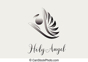 Logo angel flying