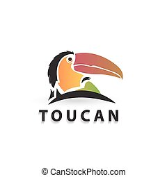 logo animals - Vector colorful stylized silhouette toucan....