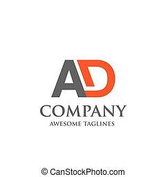 logo., anzeige, brief, kreativ