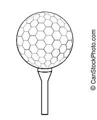 logo, app, icône, icon., conception, plat, ui., vecteur, isolé, balle, golf, white., illustration, toile