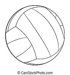 logo, app, icône, icon., conception, volley-ball, plat, vecteur, ui., isolé, white., illustration, toile