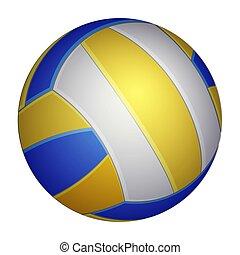 logo, app, icône, icon., conception, volley-ball, réaliste, vecteur, ui., isolé, white., illustration, toile