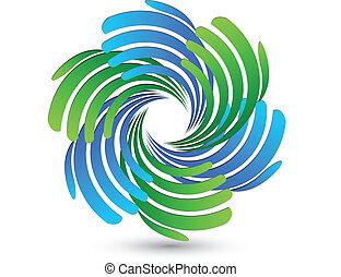 logo, app, teamwork, handlowy wręcza