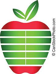 Logo Apple Stripes Design Element