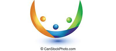 logo, arbete, samarbete, lag