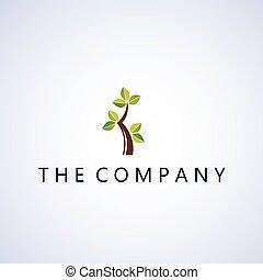 logo, arbre