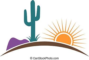logo, arizona, désert