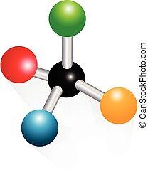 logo, atom, molekular, ikone, wissenschaft