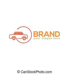 logo, auto, ontwerp, plat, mal