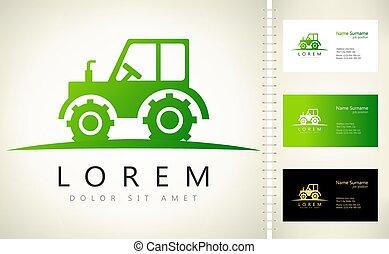logo, auto, vecteur, tracteur, agricole