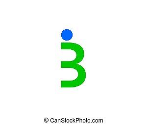 logo, b, lettre, gens