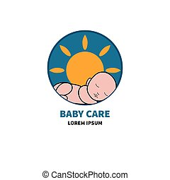Logo baby care. Icon for childrens products. Newborn is...