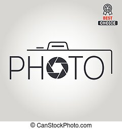 Logo or logotype elements for photograph and studio