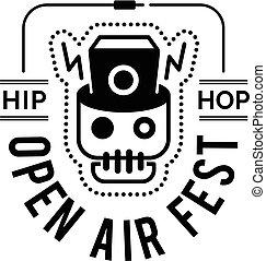 Logo badge for music festival