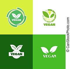 logo, badge, vegan, pictogram