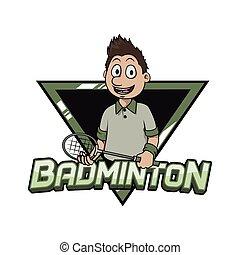logo, badminton, conception, illustration