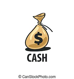 logo bag of money - A bag of money vector icon. Business and...