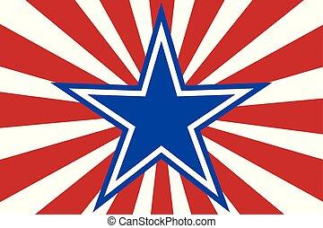 logo, bandera, gwiazda, tło