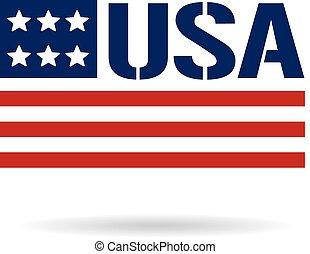 logo, bandera, usa