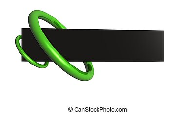 logo banner - 3d render of logo